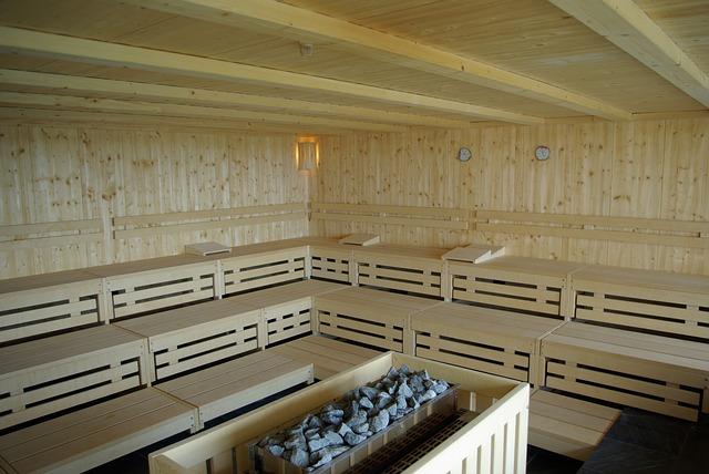 finská sauna s parním nárazem